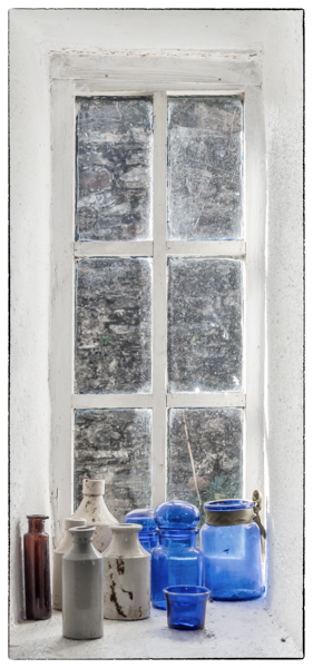 Bottles in Window - Alan Bevis