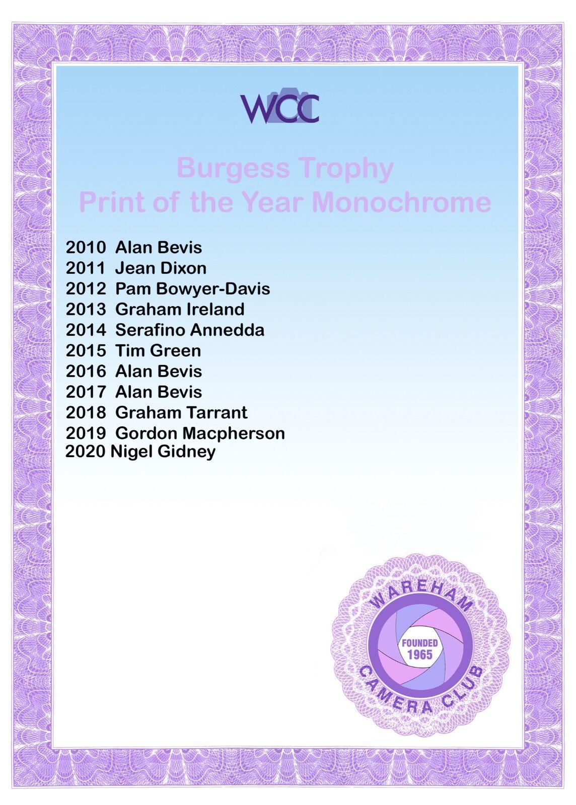 Burgess Trophy
