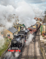 Freight Train Leaving Swanage by Alan Bevis