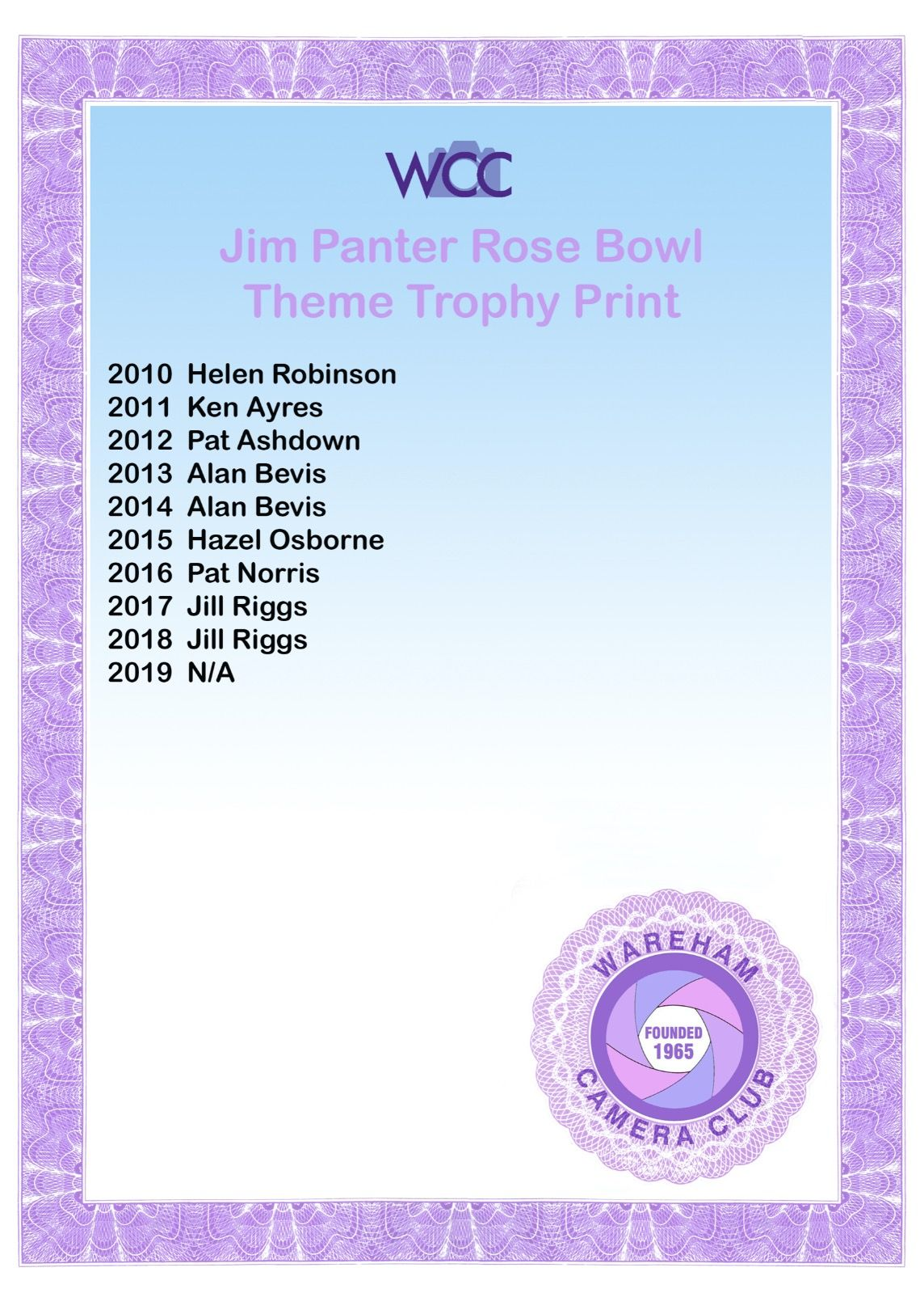 Jim Panter Rose Bowl Print