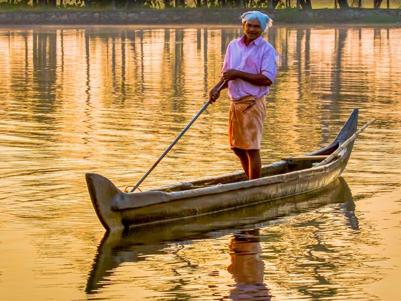 Kerala canoe man