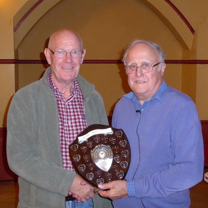 Martin Osborne receiving winners Trophy