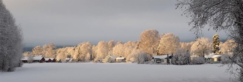 Norwegian dusk in winter