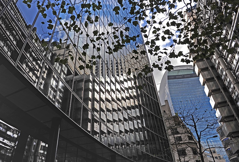 Reflective Glass in the City
