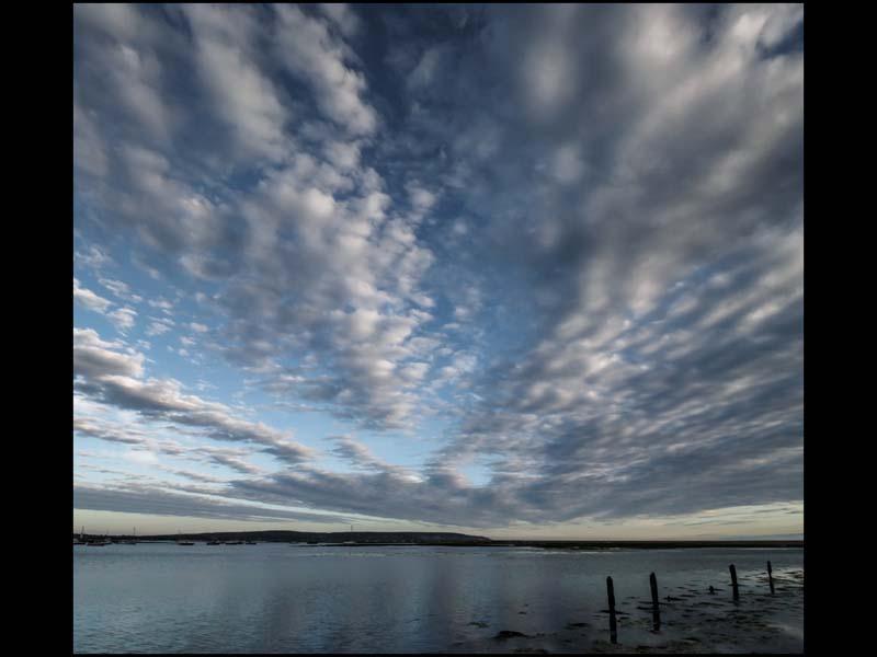 Summer evening clouds sm