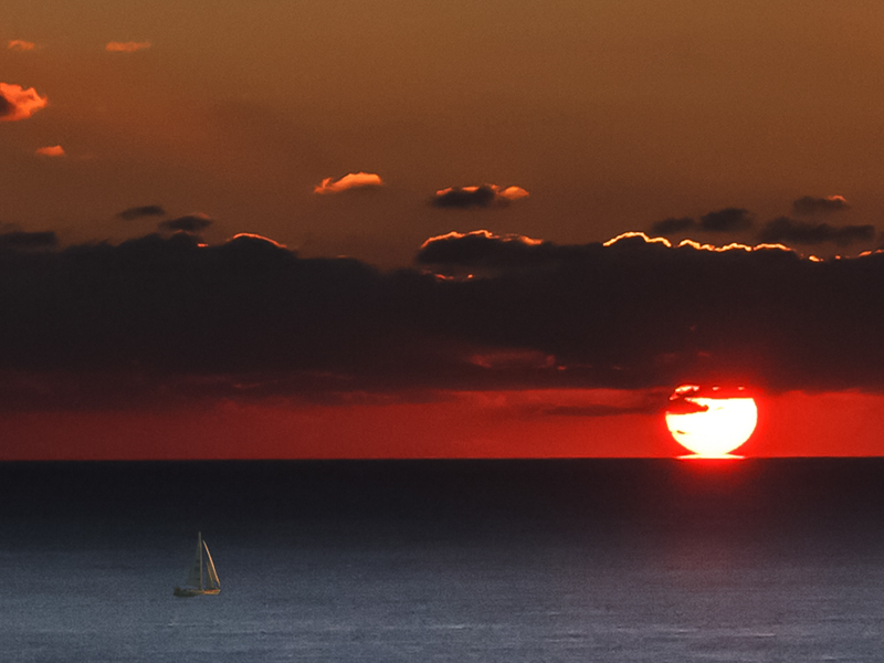 Sunset with Clipper Class