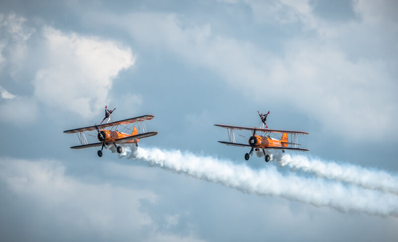 Wing walkers display team