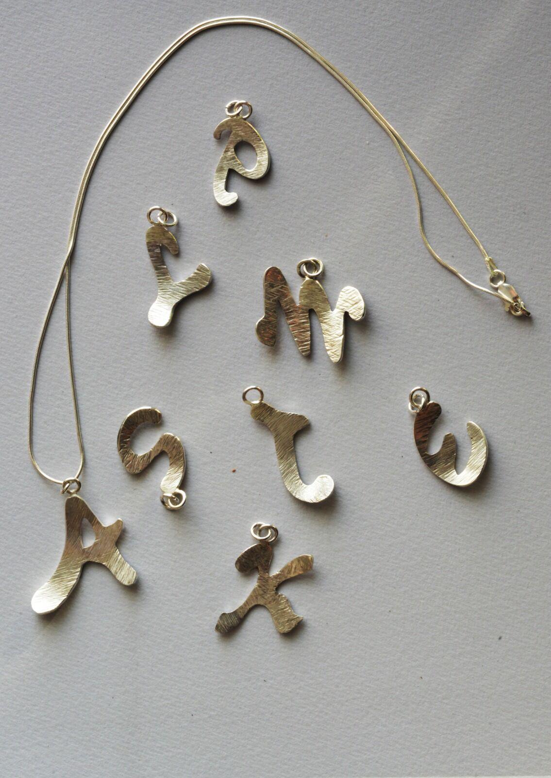 Hand cut alphabet letters