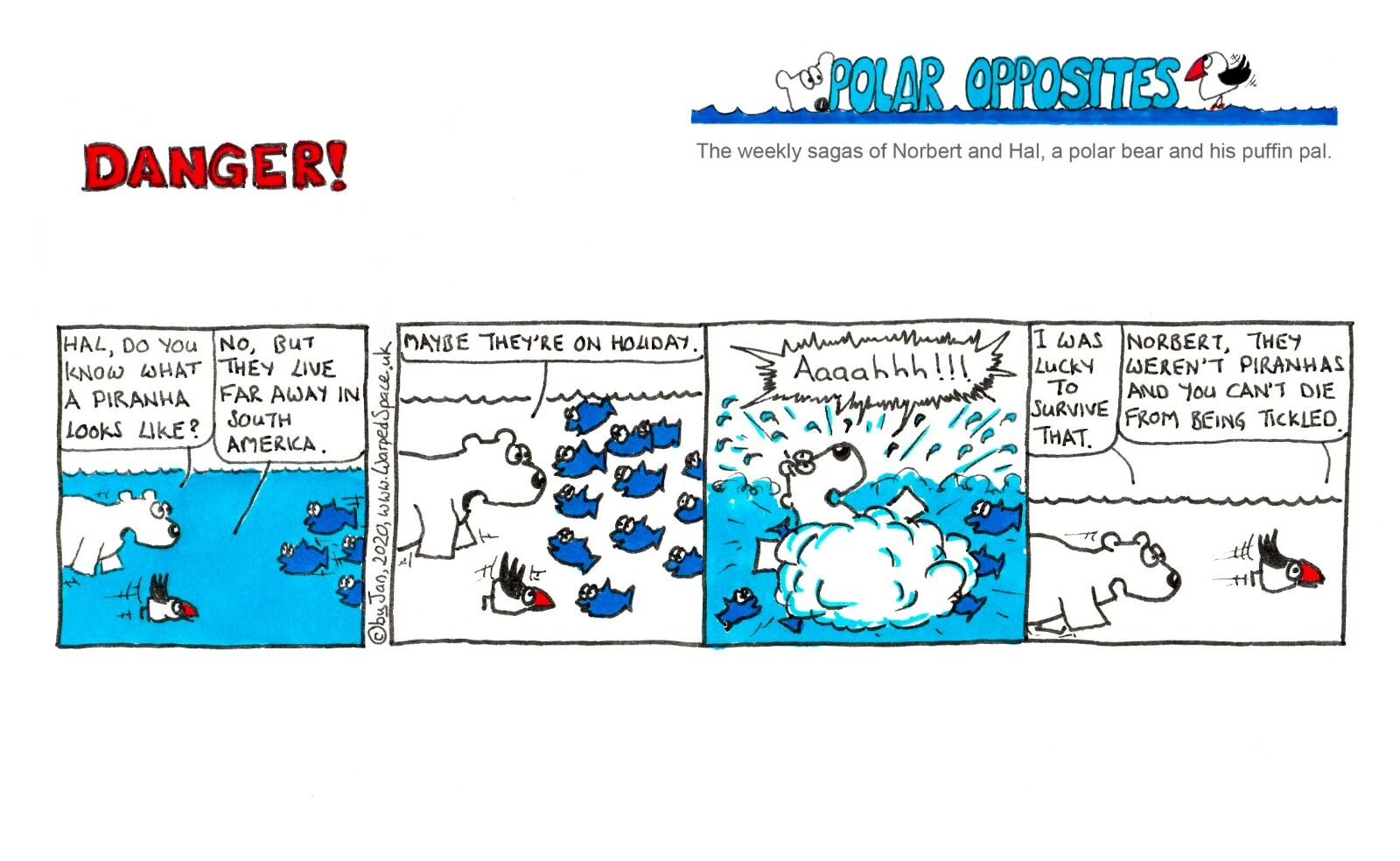 THE FIRST EVER POLAR OPPOSITES STRIP - 10th August - Week 33 - Danger!