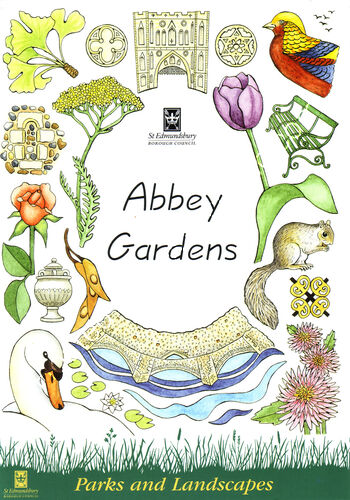 Abbey Gardens Bury St Edmunds Leaflet front cover