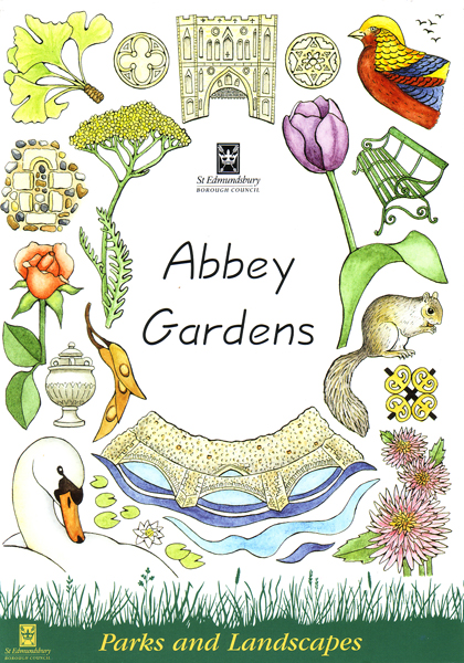 Abbey Gardens Bury St Edmunds Leaflet front cover