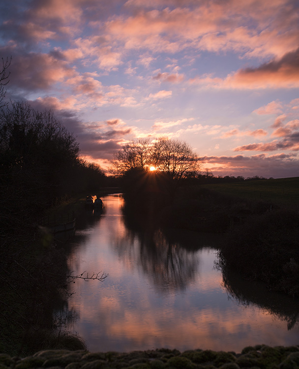 Pink Sky at Wootton Rivers
