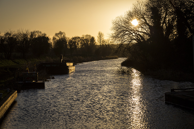 Winter Sun on the Canal