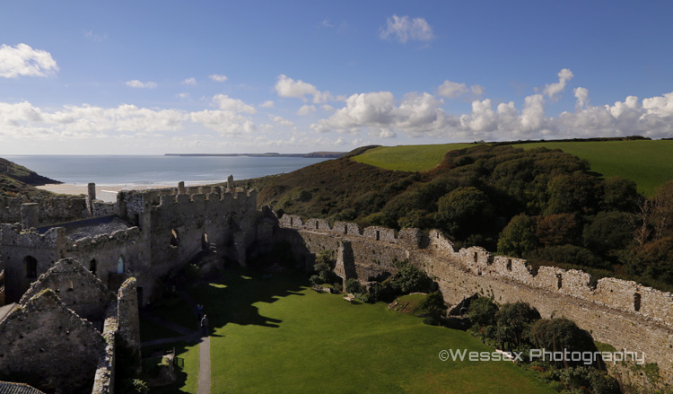 From Manorbier Castle