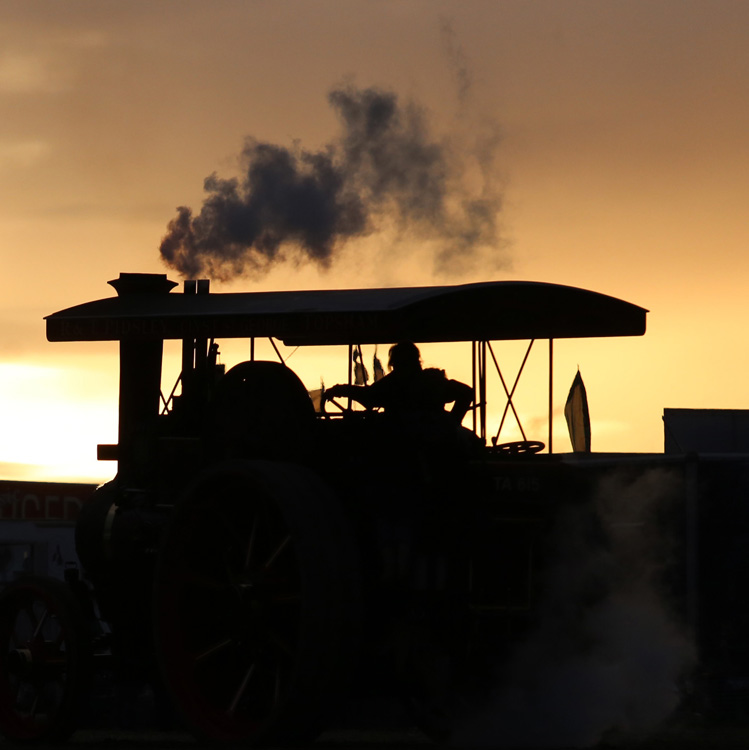 Steaming into the Sunset