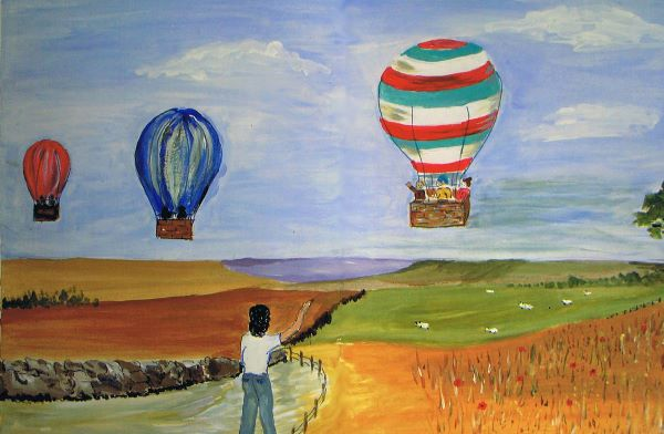 Hot-air balloons, June Drinkwater