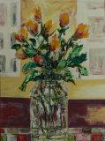 Roses in a vase, Barbara Drinkwater