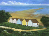Beach Huts by the Street, Wendy Mills
