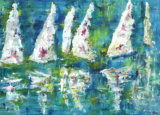 Boats in Sail, Barbara Drinkwater