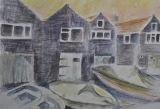 Fishermen's Huts Linda Farrington