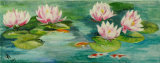 Water lilies with koi, Jill Akhurst
