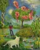 Dreamtime, a nod to Chagall, Linda Farrington