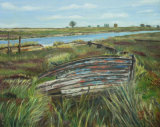 Boat at Faversham Creek Linda Ledbrook