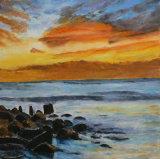 Sunset over the sea, Linda Ledbrook