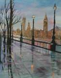 A wet London day - Jean Markham