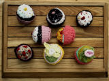 Selection of Knitted Cakes, Barbara Drinkwater