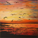 Sunset and Seagulls - Judy Johnstone