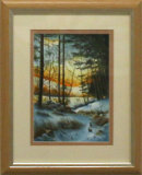Winter Woodland Sunset, Robert Male