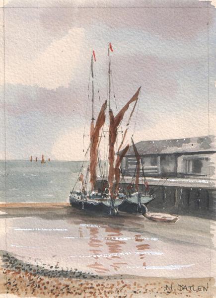 Moored Barge Marion Datlen