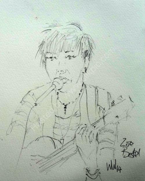 Zoe Bestel, Moniaive Folk Festival 2014
