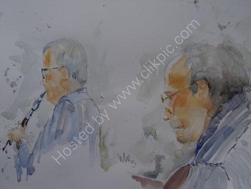 Bruce Caraffin & Roger Middleton of Hope & Anchor on 19 Feb2014
