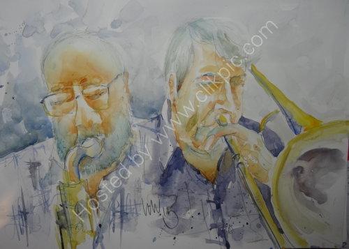 Steve Andrews & Eddie Taylor of Quincy Street on 13 August 2015