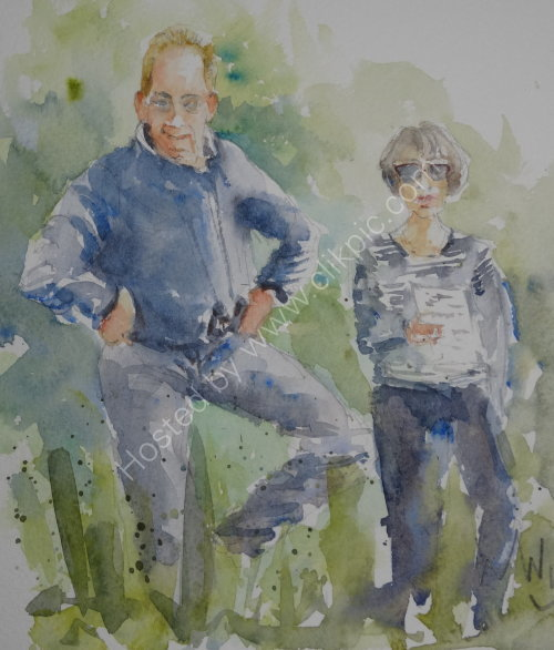 Bob & Francoise, near Inverness 2015