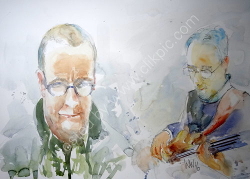 Pete Major & Laurence Canty of Quincy Street on 13 Feb
