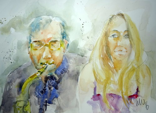 Dave Lee & Helen Longworth of Quay Change on 31 March 2016