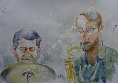 Tim Franks & Kyran Matthews of Steve Oakes Quartet on 6 Oct