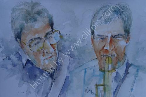 Mo Witham & Tim Barty of Alan Beecham Quintet on 17 Nov
