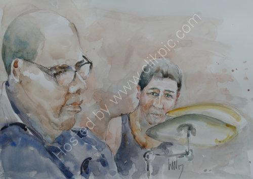 Gary Boyle & Tim Franks of the Tim Franks Quartet on 23 March 2017