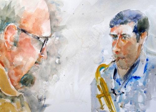 Freddie Garner & Jim Collins of the Freddie Garner Quartet in July 2017