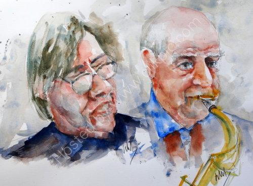 Norman Helm & Harold Salisbury of the Harold Salisbury Quartet 16 July