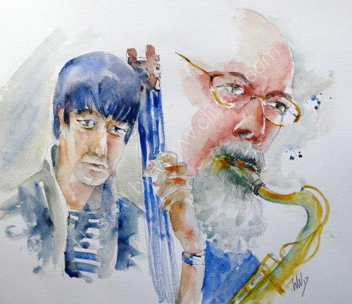 Masashi Hoshino & John Dyson of Jazz Police on 19 Oct