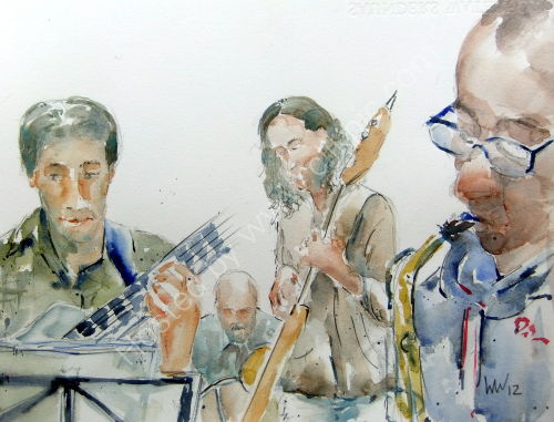 Steve Oates Quartet with John Sandham, Ed Kainyek and Ted Richards at Burgundy's 17 May 2012DrcOats