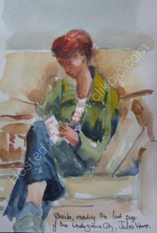 Sheila reading