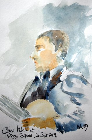 Chris Allard at Pizza Express, 20 Sept 2009