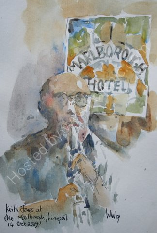 Keith Jones at the Marlborough, Liverpool