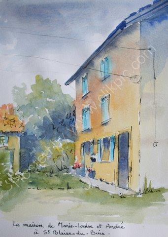 La maison de Marie-Louise et Andre a St Blaise du Buis, 2007